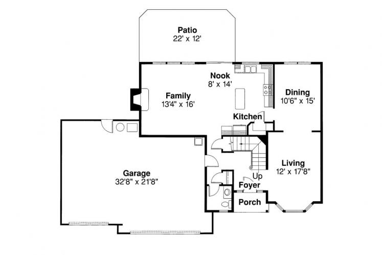 Contemporary House Plan - Westhaven 18316 - 1st Floor Plan
