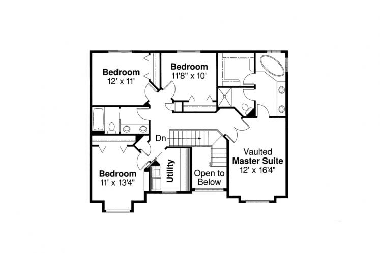 Country House Plan - Westhaven 18316 - 2nd Floor Plan