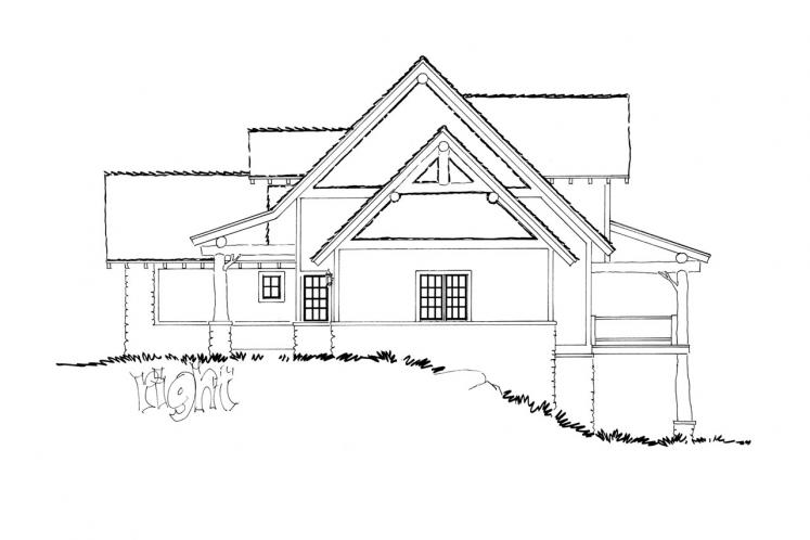 Country House Plan - Coal Creek 18334 - Right Exterior