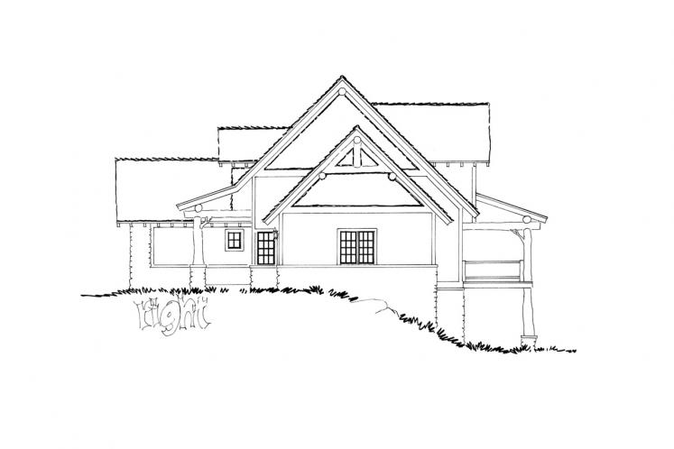 Country House Plan - Coal Creek II 18409 - Right Exterior
