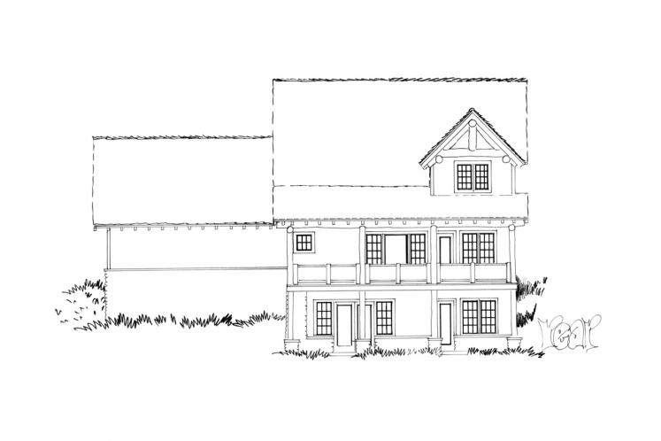 Bungalow House Plan - Coal Creek II 18409 - Rear Exterior