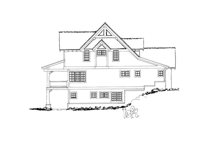 Craftsman House Plan - Coal Creek II 18409 - Left Exterior