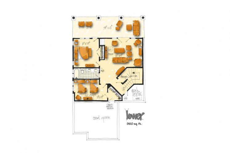 Country House Plan - Coal Creek II 18409 - Basement Floor Plan