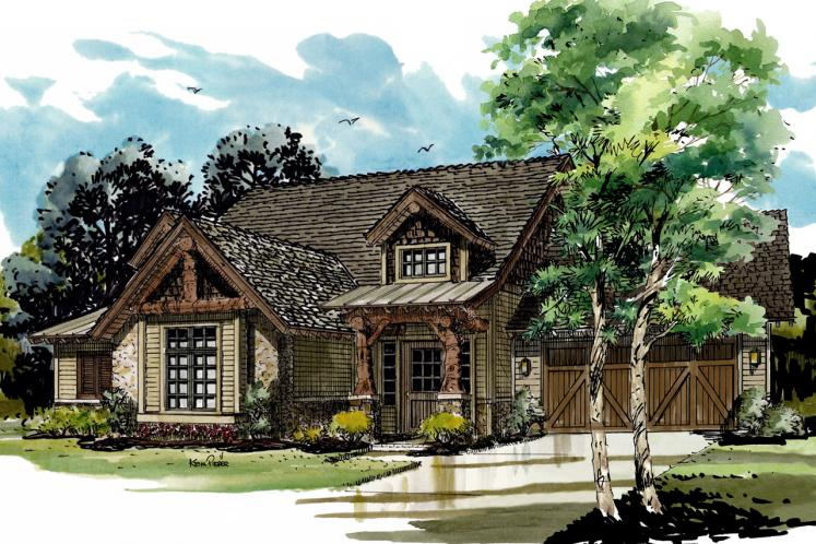 Country House Plan - Coal Creek II 18409 - Front Exterior