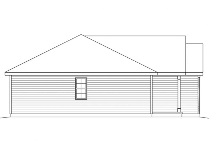 Ranch House Plan -  18603 - Left Exterior