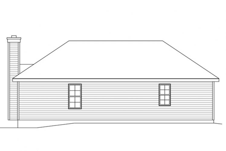 Traditional House Plan -  18603 - Rear Exterior