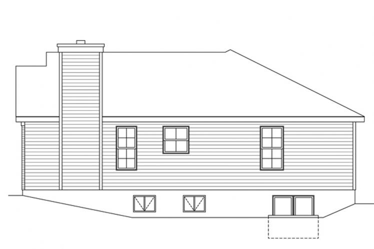 Traditional House Plan -  18603 - Right Exterior