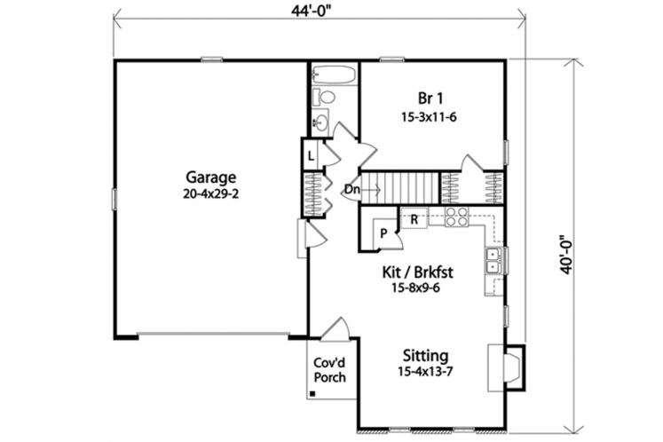 Ranch House Plan -  18603 - 1st Floor Plan