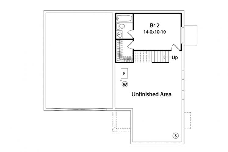 Traditional House Plan -  18603 - Basement Floor Plan