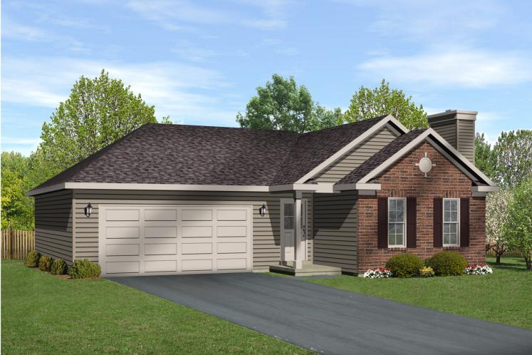 Ranch House Plan -  18603 - Front Exterior