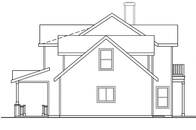 Traditional House Plan - Thornebury 18736 - Right Exterior