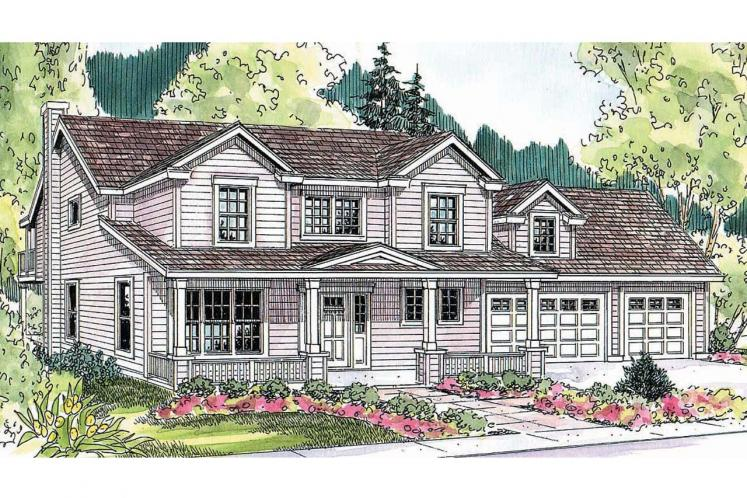 Traditional House Plan - Thornebury 18736 - Front Exterior