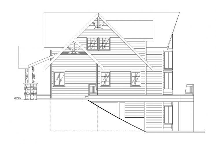 Lodge Style House Plan -  18867 - Right Exterior