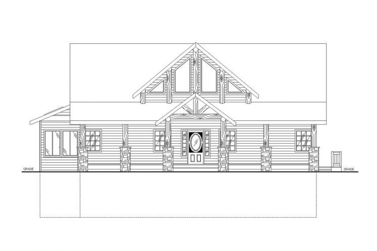 Lodge Style House Plan -  18867 - Front Exterior