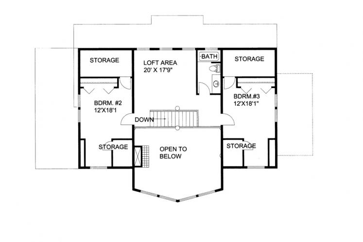 Lodge Style House Plan -  18867 - 2nd Floor Plan