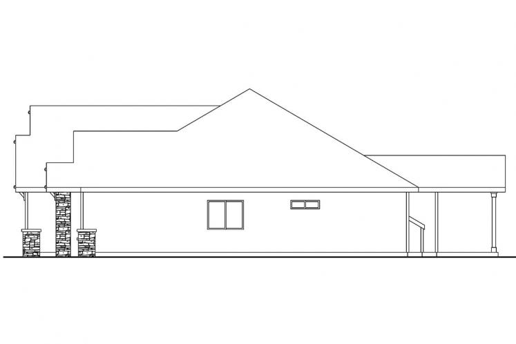 Craftsman House Plan - Goldendale 18901 - Right Exterior