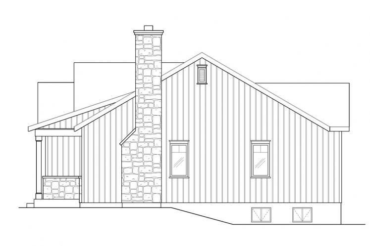 Cottage House Plan -  18947 - Right Exterior