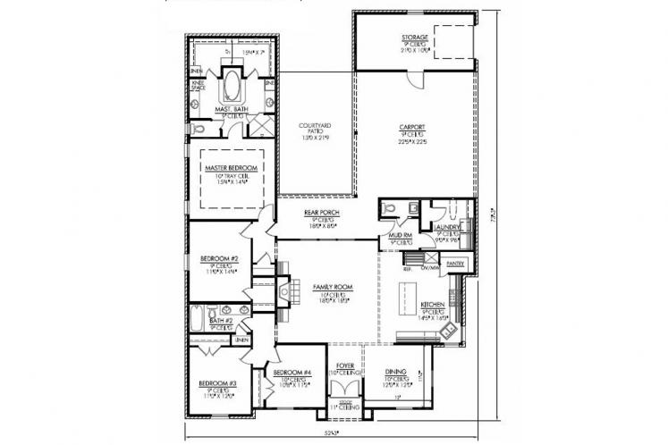 Classic House Plan - Chateau 18984 - 1st Floor Plan