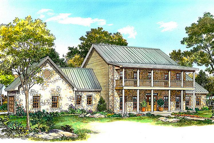 Farmhouse House Plan - Castell 19157 - Front Exterior