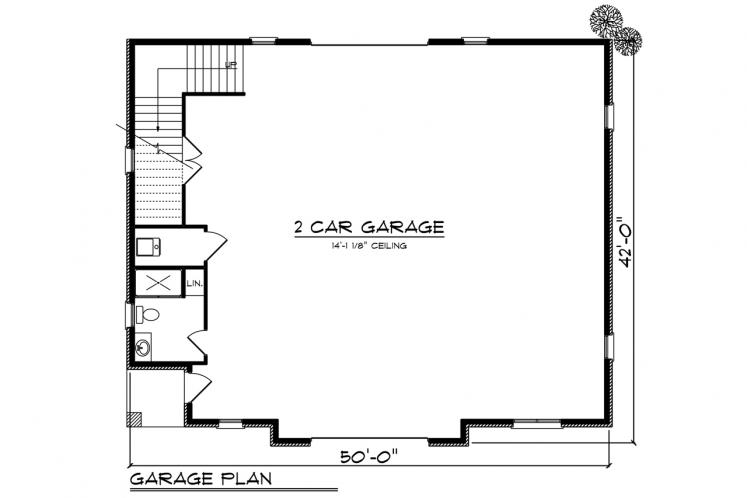 European Garage Plan -  19158 - 1st Floor Plan