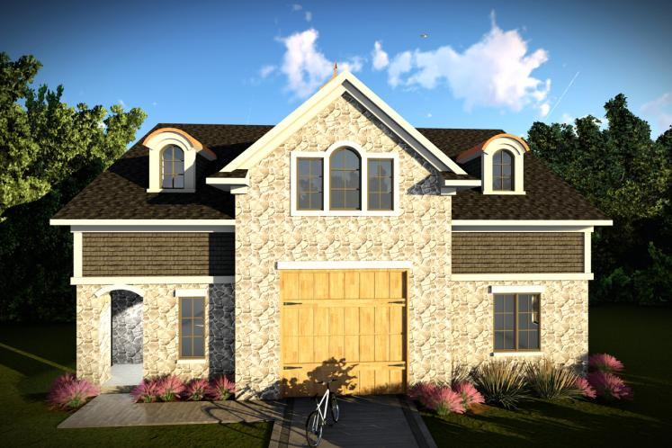 European Garage Plan -  19158 - Front Exterior
