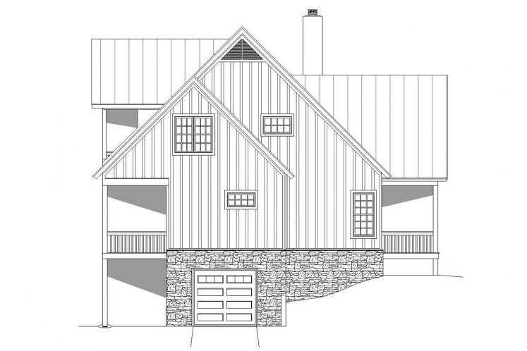 Country House Plan - Cabin Creek 19248 - Left Exterior