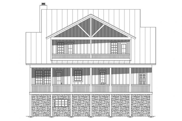 Country House Plan - Cabin Creek 19248 - Rear Exterior