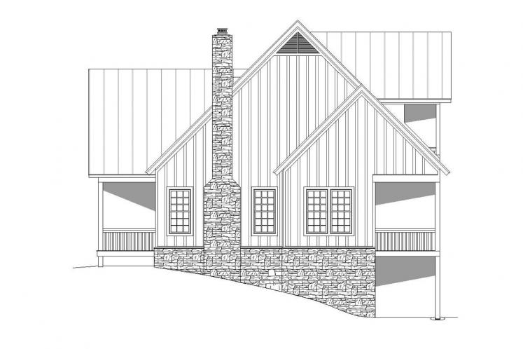 Craftsman House Plan - Cabin Creek 19248 - Right Exterior