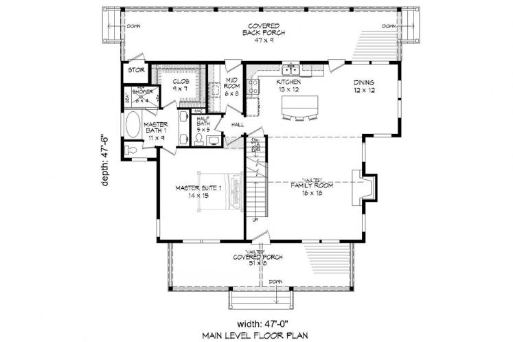 Country House Plan - Cabin Creek 19248 - 1st Floor Plan