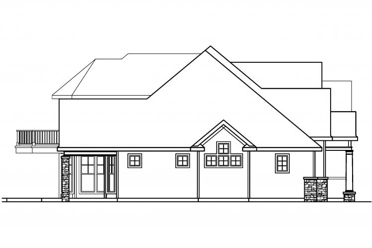 Southern House Plan - Southwick 19261 - Left Exterior