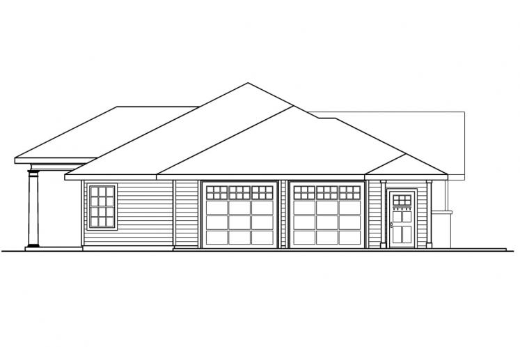 Traditional House Plan - Parkdale 19299 - Left Exterior