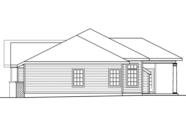 Ranch House Plan - Parkdale 19299 - Right Exterior