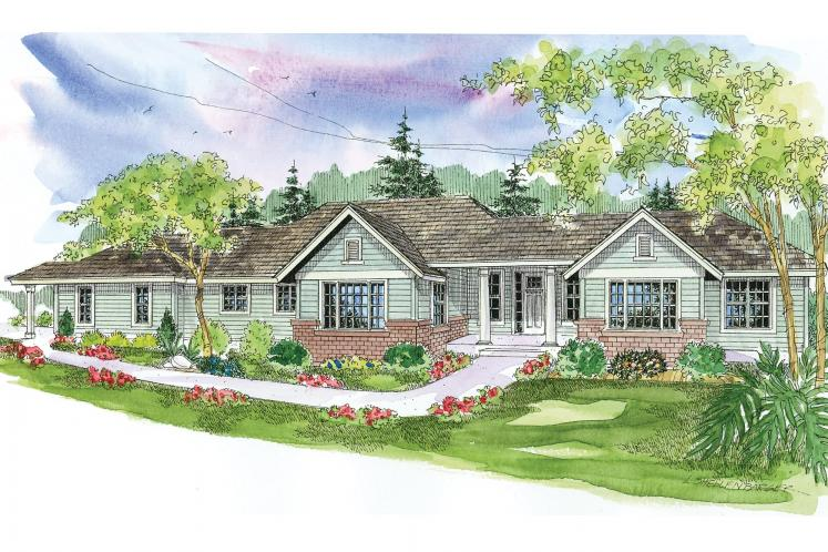 Ranch House Plan - Parkdale 19299 - Front Exterior