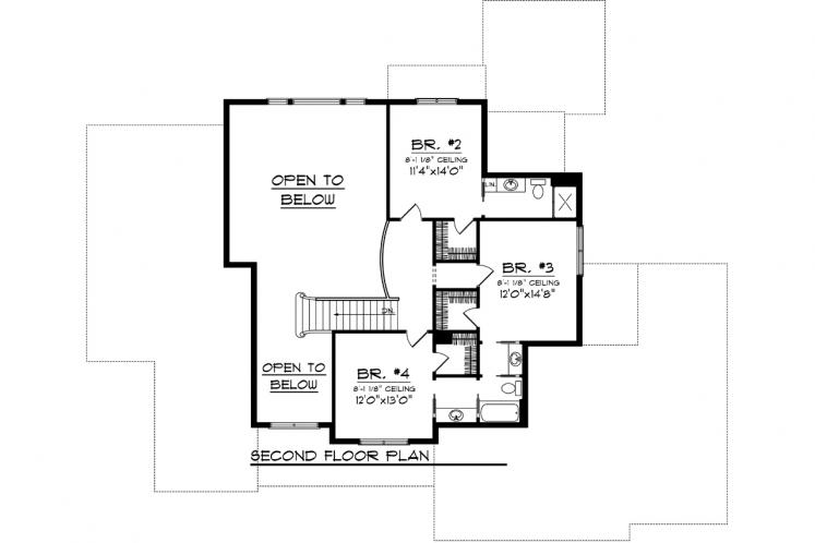 Country House Plan -  19324 - 2nd Floor Plan