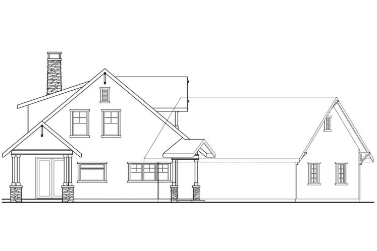 Traditional House Plan - Mariposa 19568 - Left Exterior