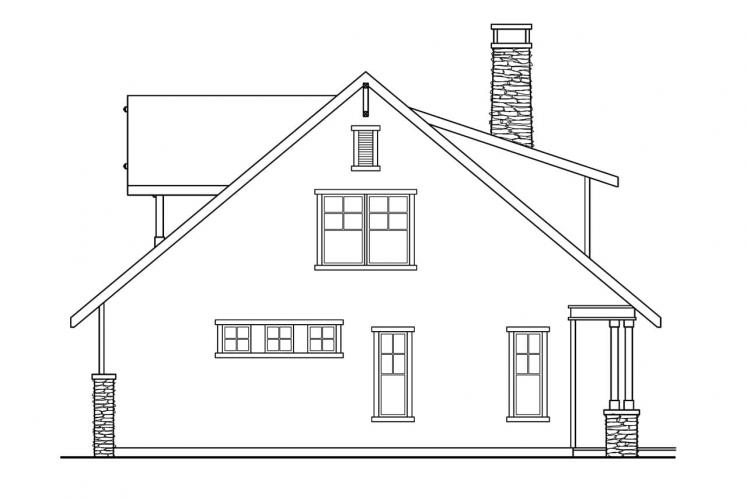 Lodge Style House Plan - Mariposa 19568 - Right Exterior
