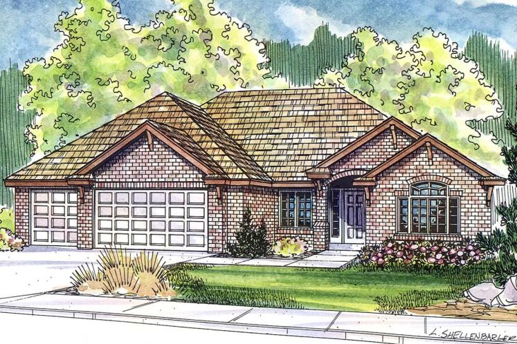 Ranch House Plan - Ryland 19713 - Front Exterior