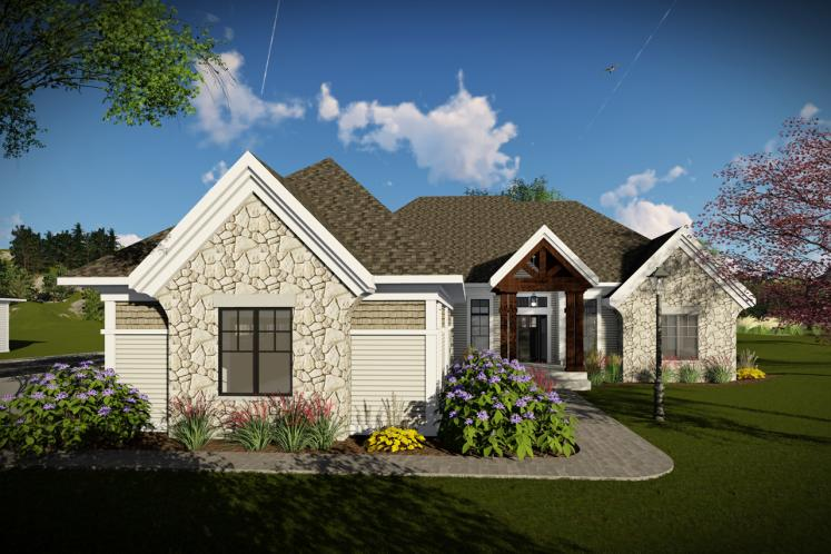 Craftsman House Plan -  19748 - Front Exterior