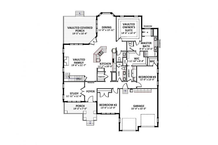 Craftsman House Plan - Heatherstone 19778 - 1st Floor Plan