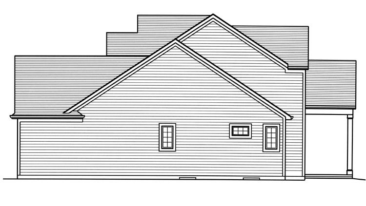 Traditional House Plan - Clearview 19789 - Right Exterior