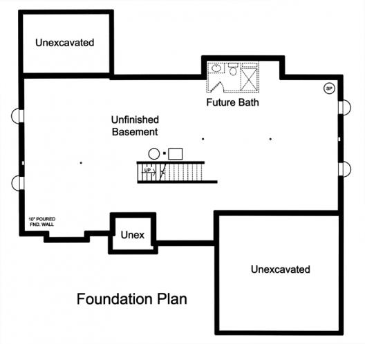 Traditional House Plan - Clearview 19789 - Basement Floor Plan