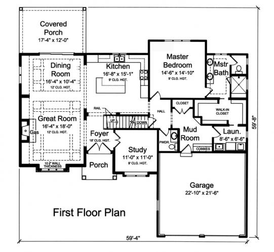 Contemporary House Plan - Clearview 19789 - 1st Floor Plan
