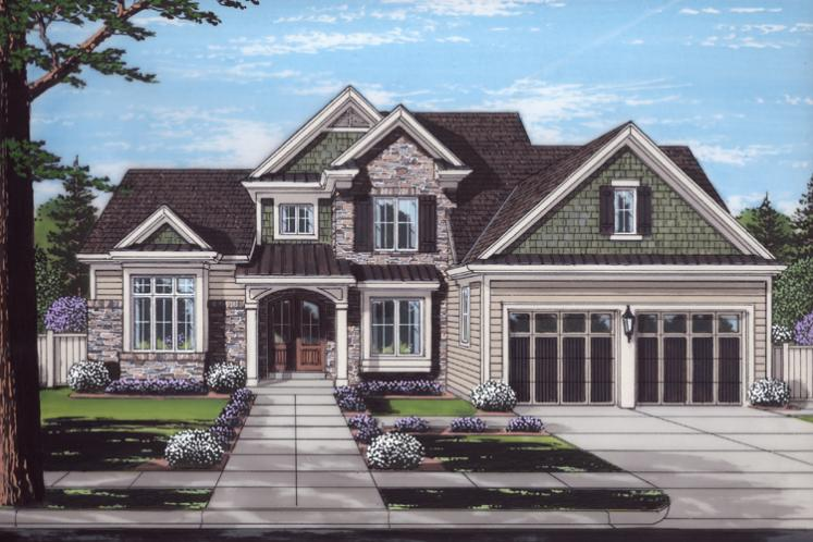 Traditional House Plan - Clearview 19789 - Front Exterior