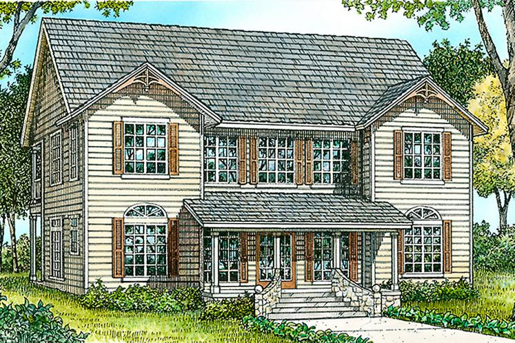 Country House Plan - Ravenwood 19883 - Front Exterior