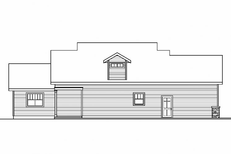 Bungalow House Plan - Rockport 19897 - Rear Exterior