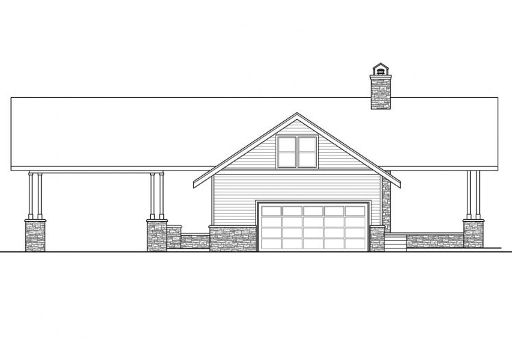 Lodge Style House Plan - Spindrift 19938 - Right Exterior