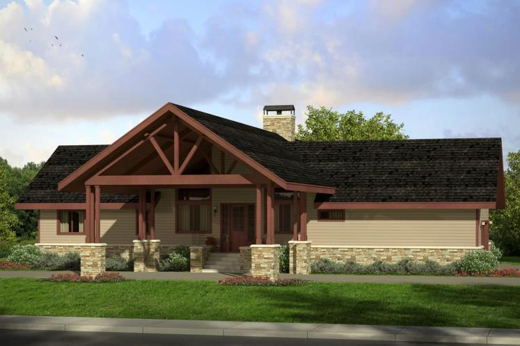 Lodge Style House Plan - Spindrift 19938