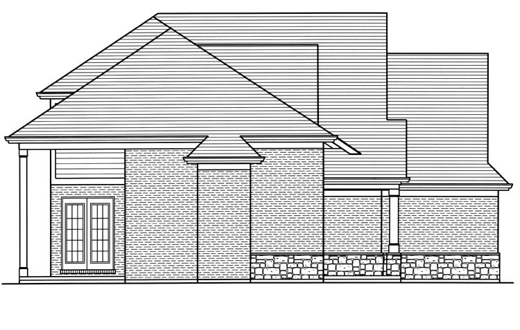 Craftsman House Plan - The Groveport 20047 - Left Exterior