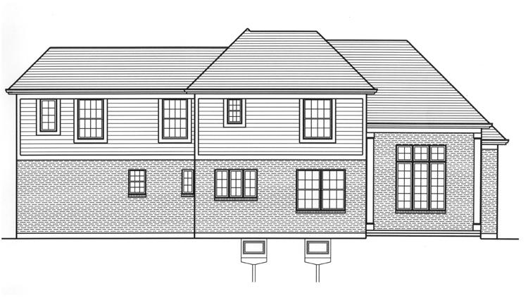 Cape Cod House Plan - The Groveport 20047 - Rear Exterior