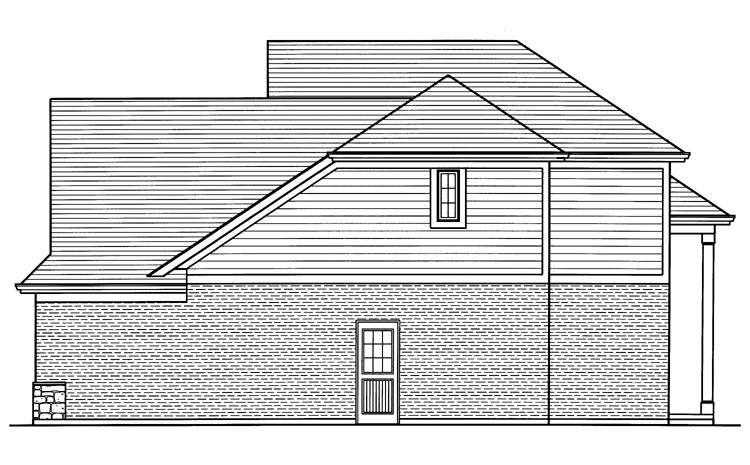 Cape Cod House Plan - The Groveport 20047 - Right Exterior